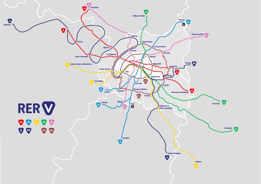 RER V, le réseau vélo d'Île-de-France